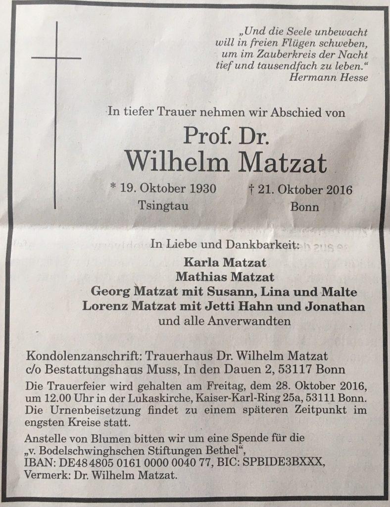 todesanzeige_zeitung_wilhelm_matzat